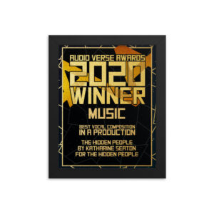 2020 Sound Design – Environmental Sound Design in a Production – Tessa Vroom for Rusty Quill Gaming Framed poster